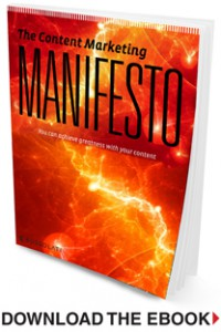 Content Marketing Manifesto ebook cover