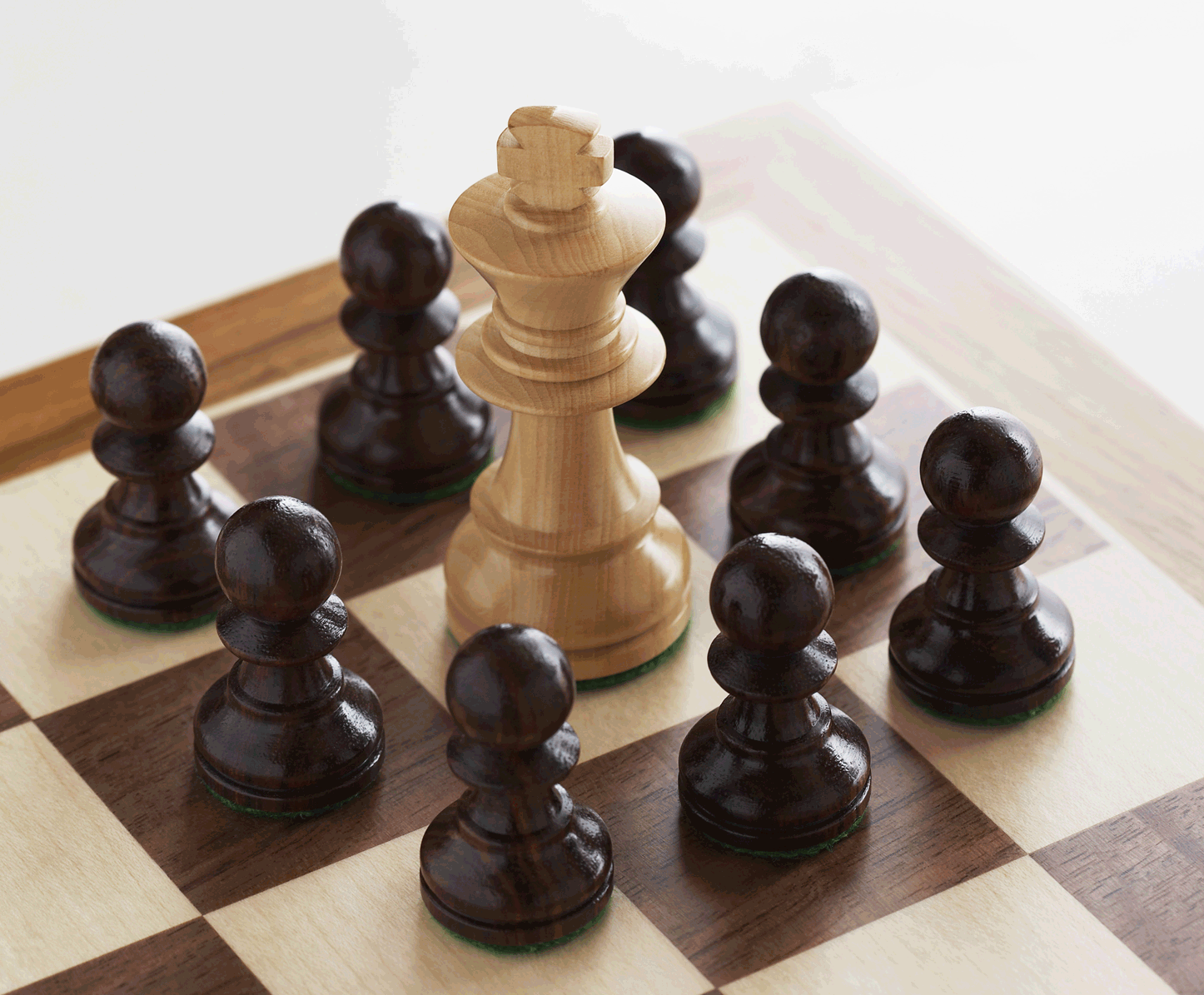 chess board, match in progress
